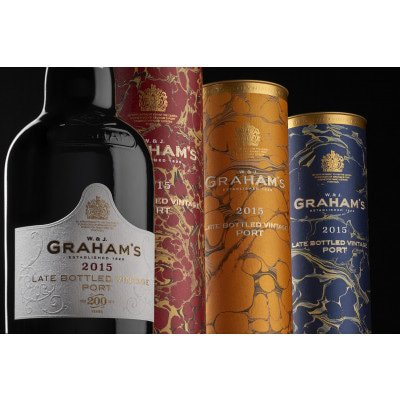 Graham's Port Late Bottled Vintage 2015 Bicentenary Commemorative Edition in luxe tube